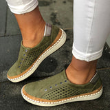Hot Selling Round Toe Slip On Mesh Casual Breathable Flats