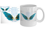 Angels All Around White 11 oz. Coffee Mug - Bad Ass Shoes