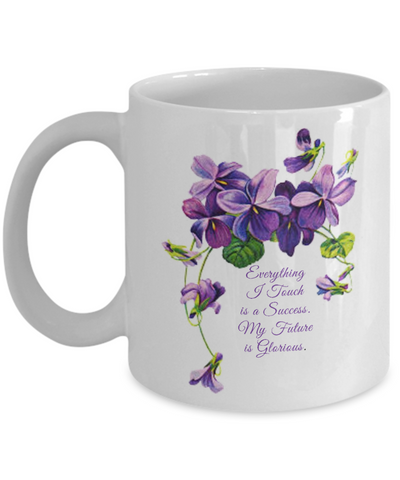 Everything I Touch Is A Success Women's White Purple 11 oz. Coffee Mug