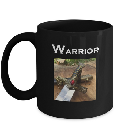 Warrior 11 ounce Black Coffee Mug - Bad Ass Shoes