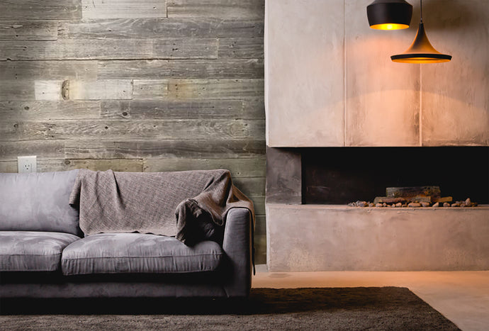 Transform your living room with a wood accent wall