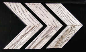 Chevron Decor - White Washed (3PK) - Large