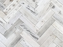 Vinta Wood™ Herringbone White Planks Direct Application 3""