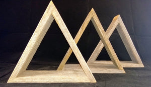 Triangle Shelves - 3 Pack made with Reclaimed Wood