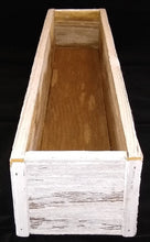 White Washed Planter Box - 24""