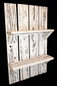 White Washed Shelf - Large Shelf made with Reclaimed Wood