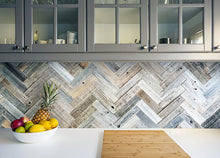 Vinta Wood™ Herringbone Planks Permanent Peel and Stick 3""