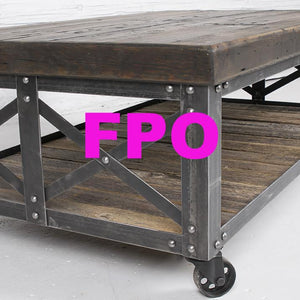 Rustic Rolling Coffee Table
