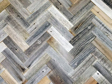 Vinta Wood™ Rustic Herringbone Planks  Permanent Peel and Stick 3""