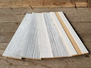 Vinta Wood™ Herringbone White Planks Herringbone 5""