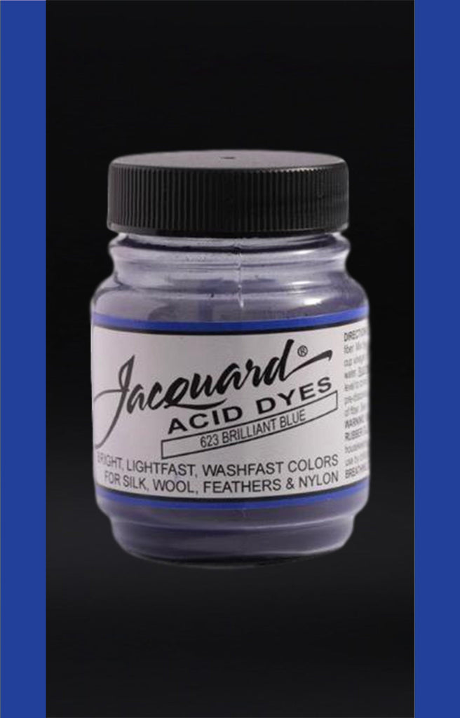 Jacquard Acid Dyes in Brilliant Blue dyersupplier Brilliant Blue (#623)