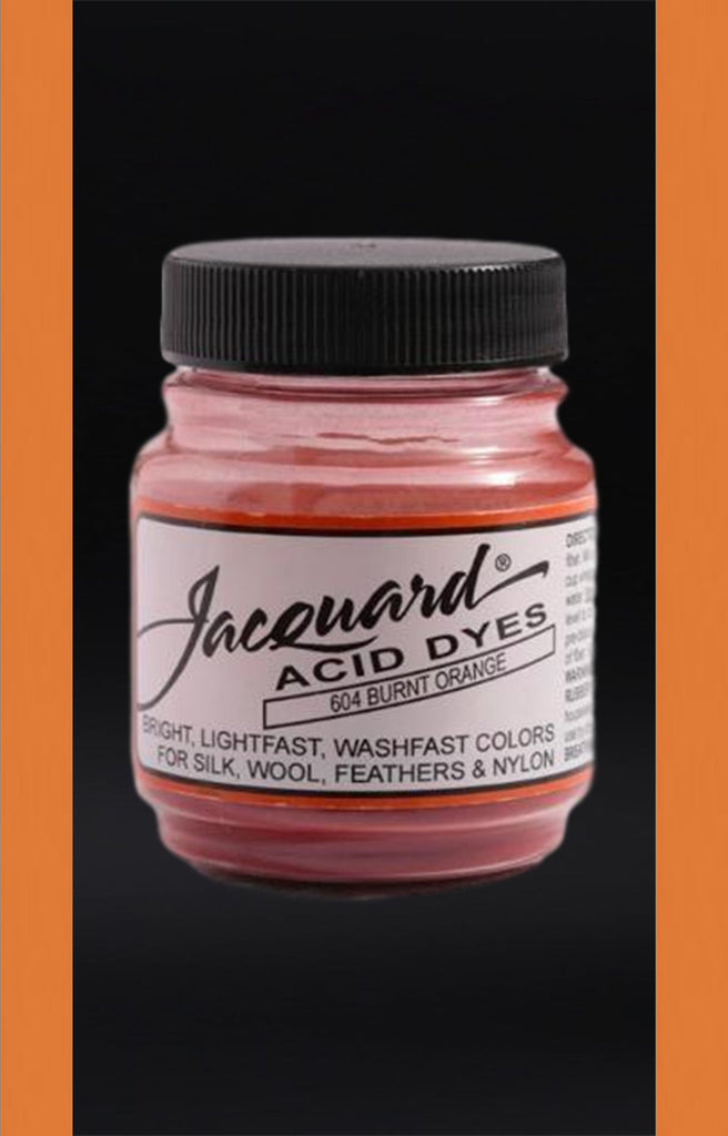 Jacquard Acid Dyes in Burnt Orange dyersupplier Burnt Orange (#604)