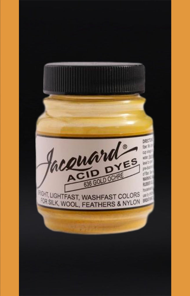 Jacquard Acid Dyes in Gold Ochre dyersupplier Gold Ochre (#636)