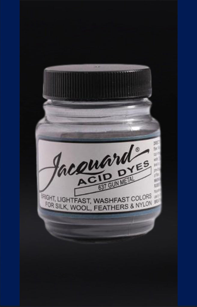 Jacquard Acid Dyes in Gun Metal dyersupplier Gun Metal (#637)