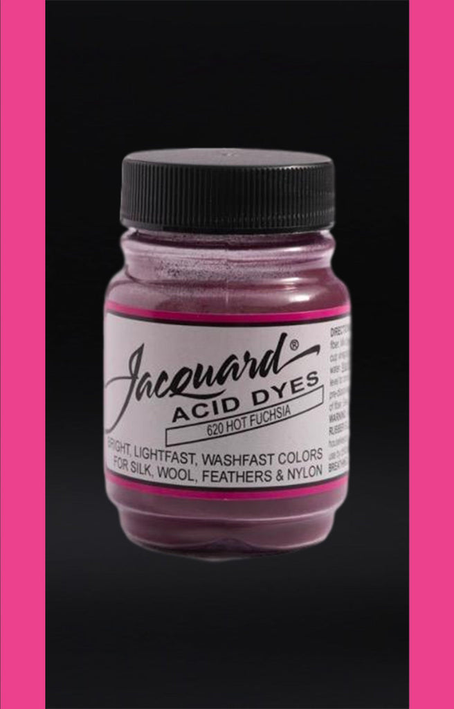 Jacquard Acid Dyes in Hot Fuchsia dyersupplier Hot Fuchsia (#620)
