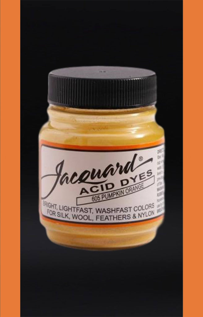 Jacquard Acid Dyes in Pumpkin Orange dyersupplier Pumpkin Orange (#605)
