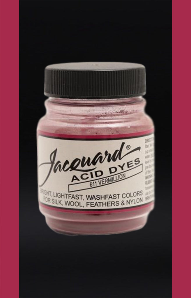 Jacquard Acid Dyes in Vermillion dyersupplier Vermillion (#611)