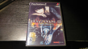 Fatal Frame III PS2 Reproduction copy