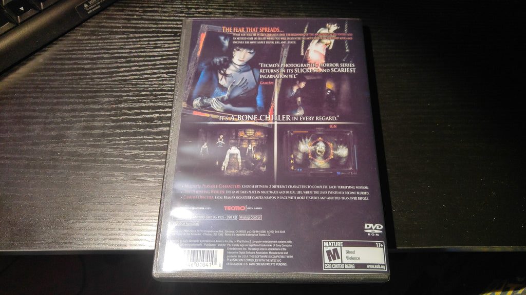 Fatal Frame III PS2 Reproduction copy – Nightwing Video Game ...
