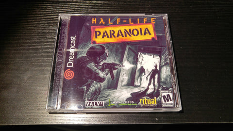 Half Life Paranoia Sega Dreamcast Reproduction back up