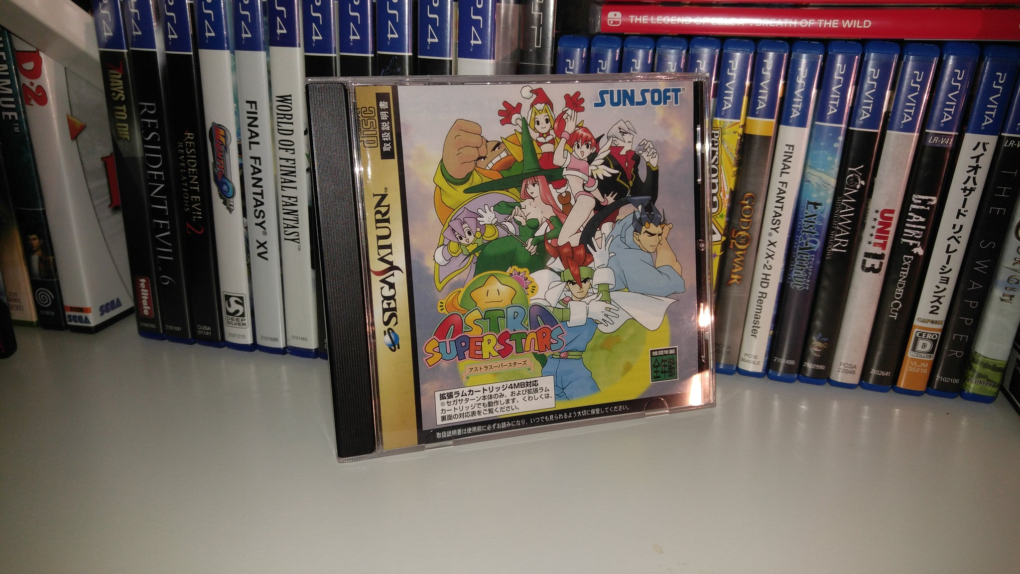 Astra Superstars Sega Saturn reproduction