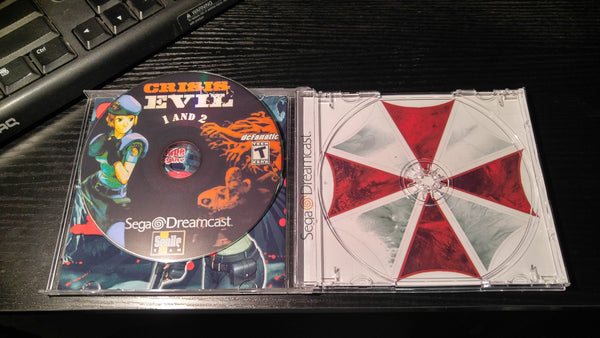 Crisis Evil 1 and 2 Sega Dreamcast reproduction