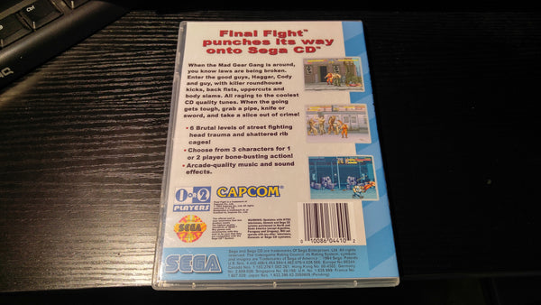 Final Fight Sega CD Reproduction