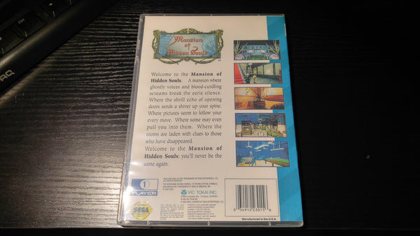 Mansion of Hidden Souls Sega CD reproduction