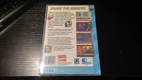 The Amazing Spider Man Sega CD reproduction