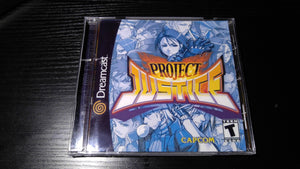 Project Justice Sega Dreamcast Reproduction back up
