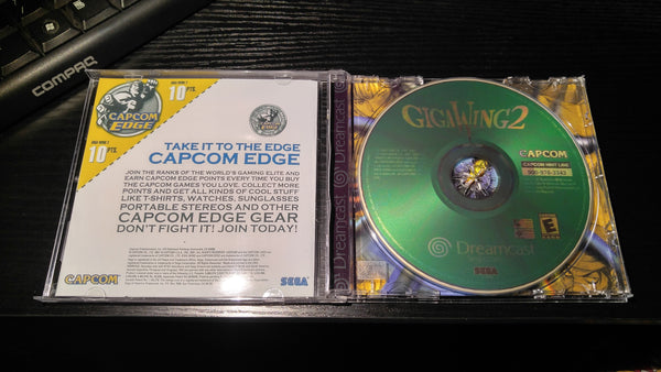 Gigawing 2 Sega Dreamcast Reproduction disc back up