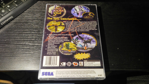 Panzer Dragoon Saga long box version Sega Saturn reproduction