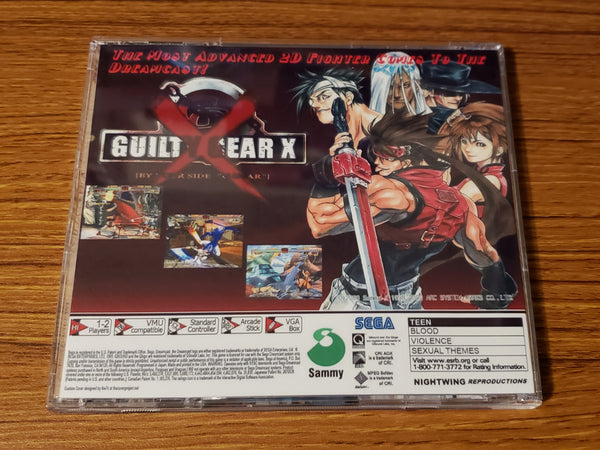 Guilty Gear X Sega Dreamcast reproduction u.s. art