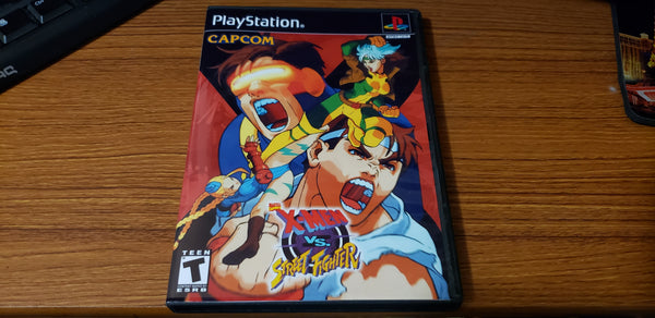 Xmen vs Street Fighter playstation reproduction