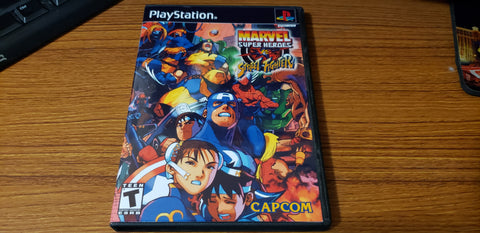 Marvel Superheroes vs Street Fighter playstation reproduction