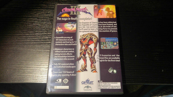 Shining Force 3 All Scenarios in English Sega Saturn Reproduction copy