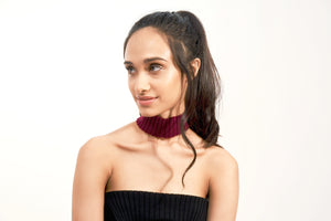 Wrapped Up 3D-Knit Choker