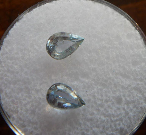 1.33 TCW EXQUISITE PAIR OF PEAR CUT MATCHING MONTANA SAPPHIRES - Blaze-N-Gems