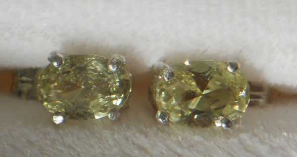 1.0 ct RARE YELLOW ALL NATURAL MONTANA SAPPHIRE EARINGS - Blaze-N-Gems