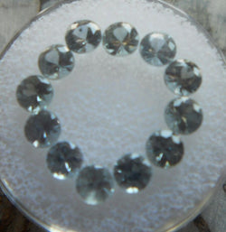 3.93 TCW. PRICED PER STONE 12 TOTAL PIECE PASTEL BLUE ROUND CUT MONTANA SAPPHIRES