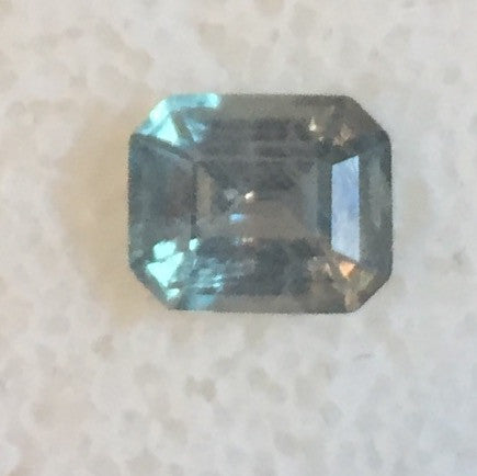 1.18 CTS. EMERALD CUT BLUE/GREEN ALL NATURAL MONTANA SAPPHIRE - Blaze-N-Gems