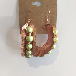 BEADED, COPPER, CUSTOM, EARRINGS