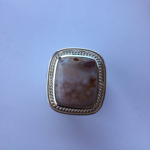 MONTANA AGATE RING SET IN .925 SILVER