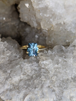 2.71ct. SPECIAL SAPPHIRE UNHEATED MONTANA SAPPHIRE RING STONE