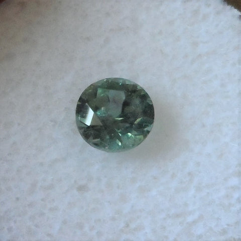 1.07 CTS. BEAUTIFUL BLUE/GREEN ROUND CUT MONTANA SAPPHIRE - Blaze-N-Gems