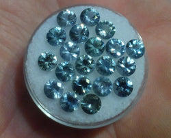 4.5 MM. ROUND SAPPHIRES .45 CT. APPROX. LIGHT BLUE UNHEATED
