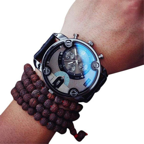 Casual Men Leather Wrist Watch