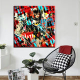 Pop Art Abstract Canvas