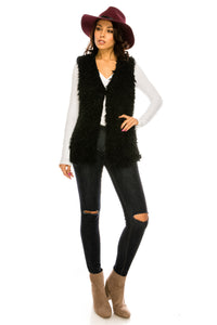 PC-105BK Faux fur vest
