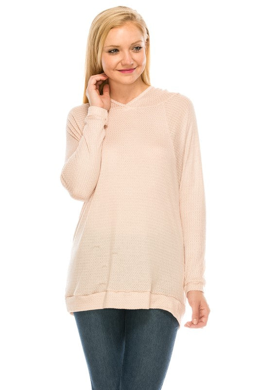 SJ0200 Basic Thermal Hoodie Top